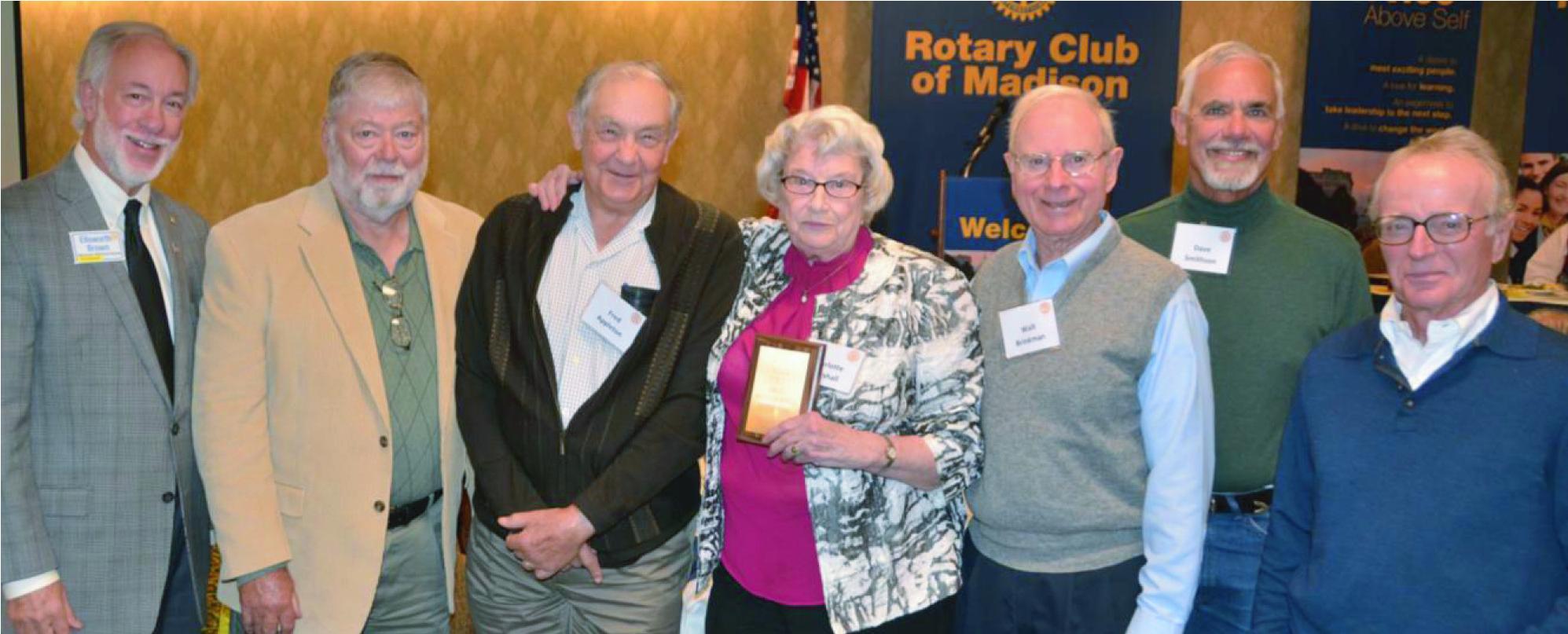 Rotary Senior Service Award Presented to Wheels for Winners Senior Team