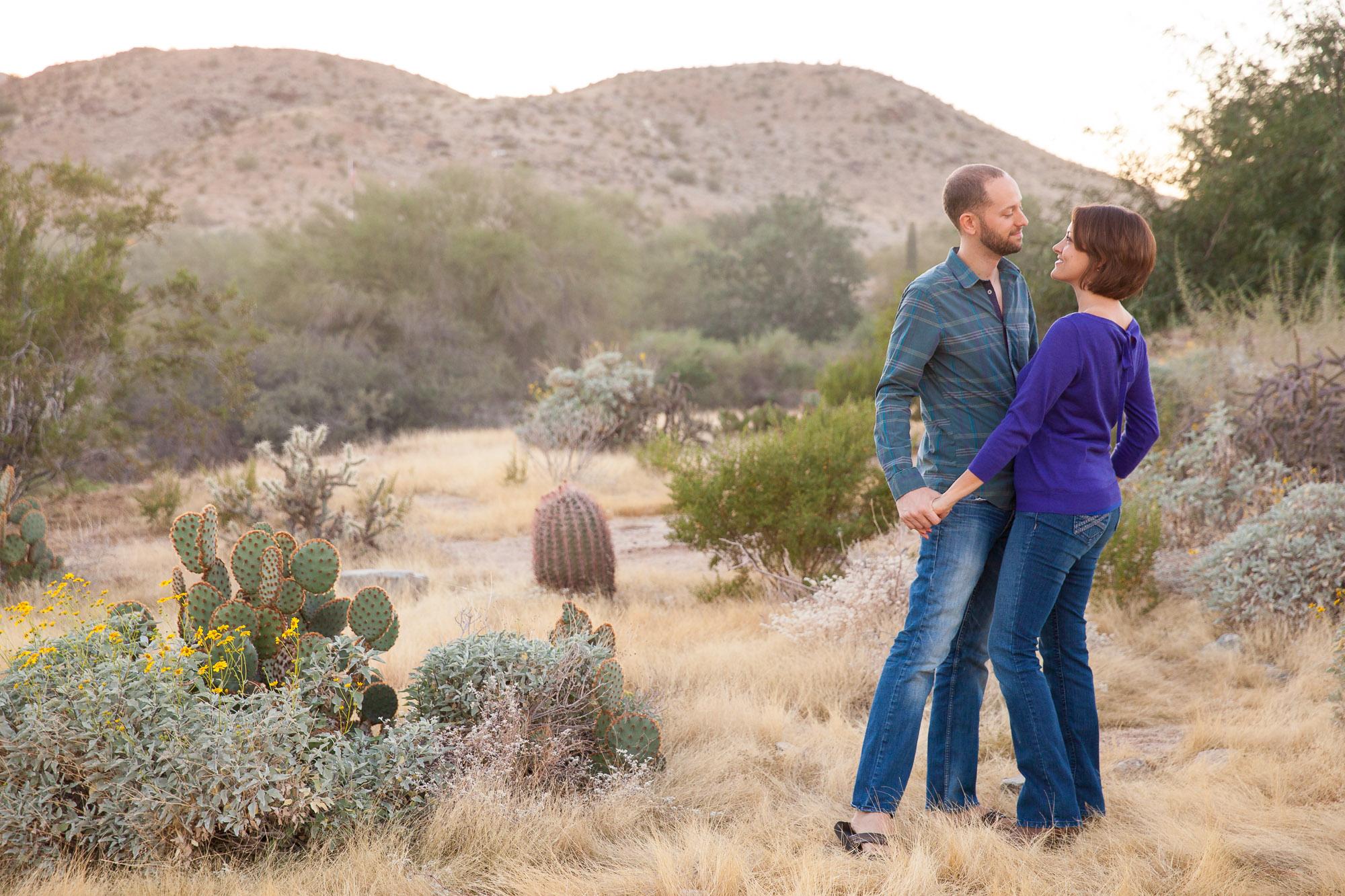 Phoenix Arizona Scorpion gulch South Mountain Engagement Photo