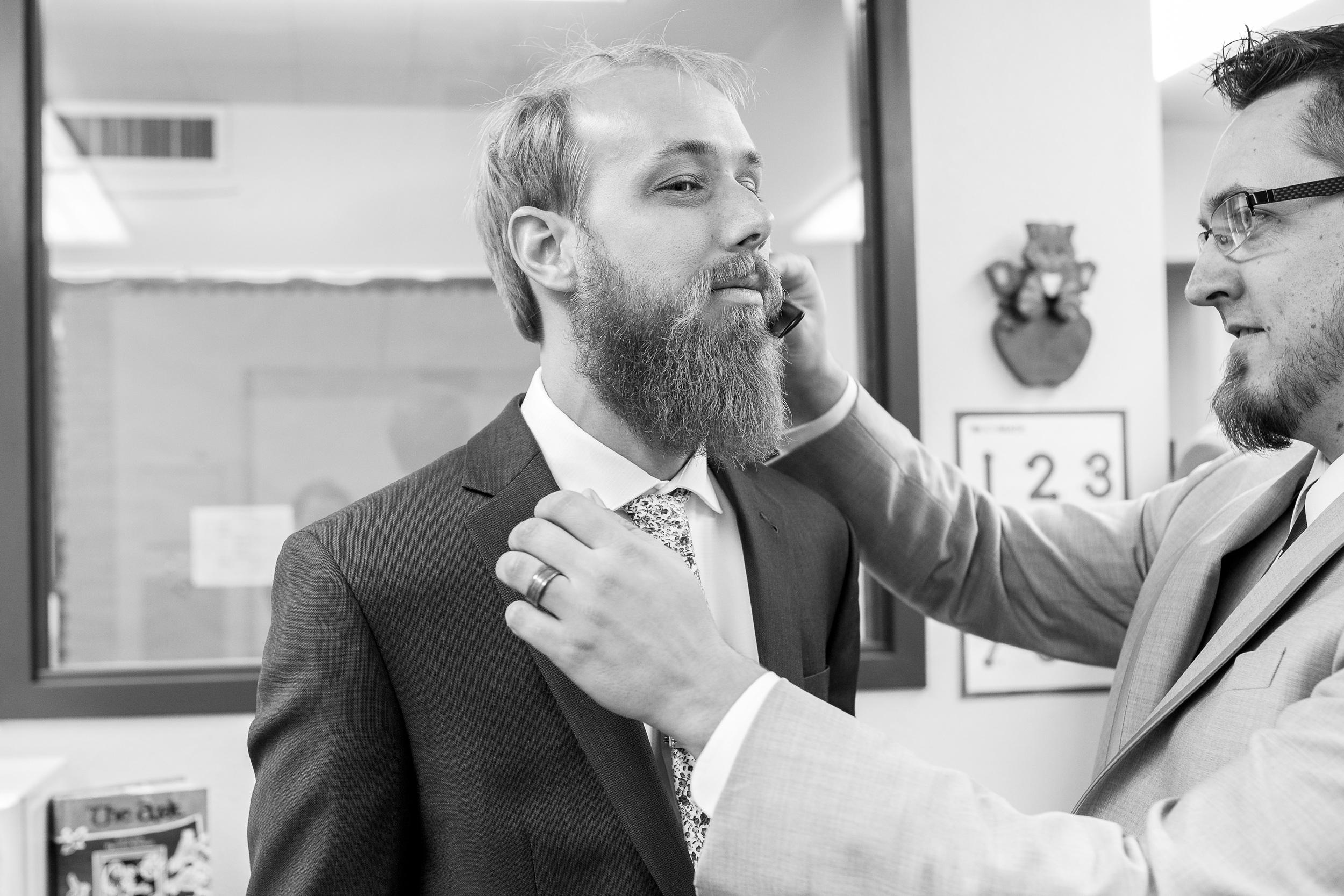 Phoenix Wedding Photographer Beard Getting Ready