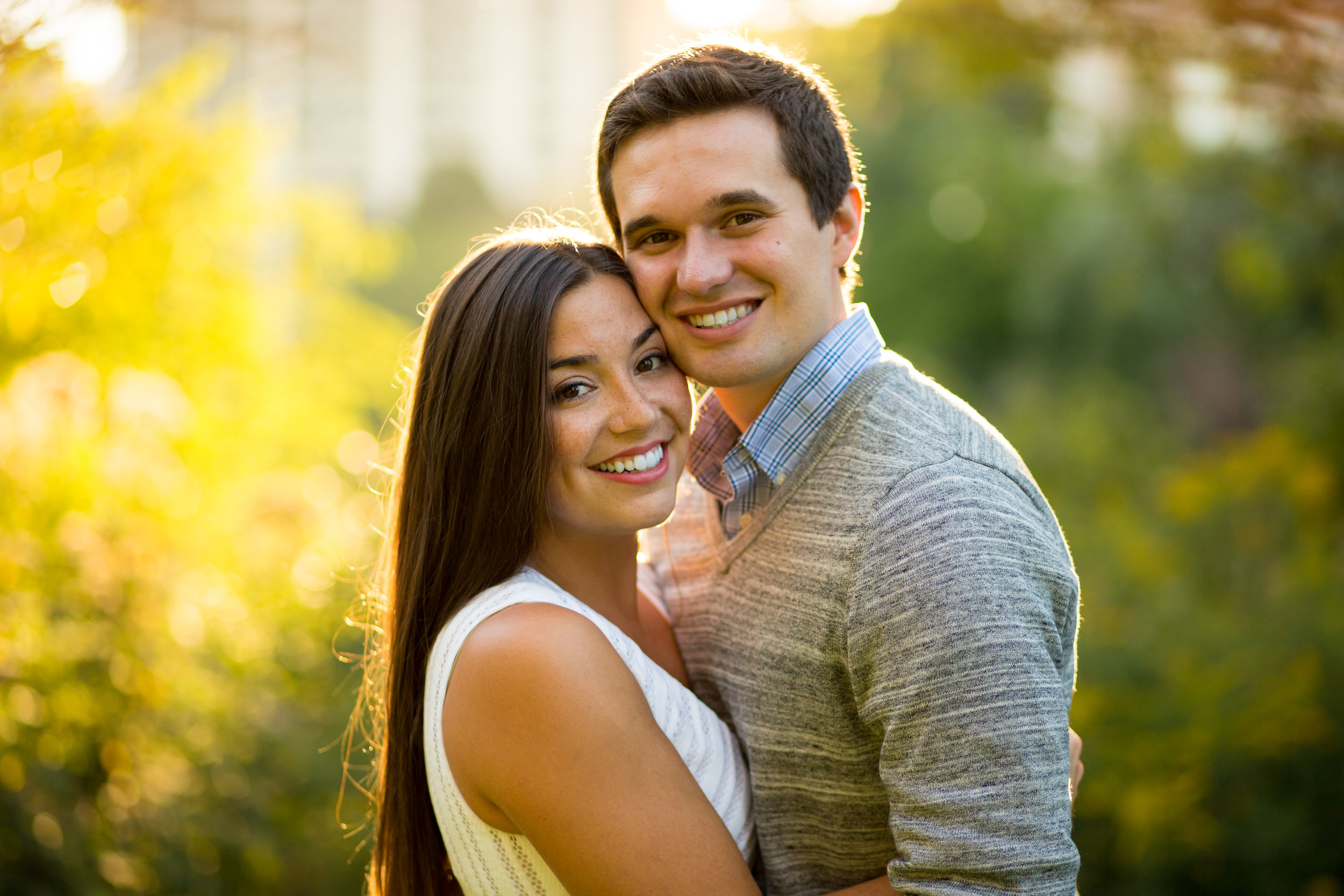 Lincoln Park Engagement Session Erin Evangeline Chicago Wedding Photographer Classic backlight