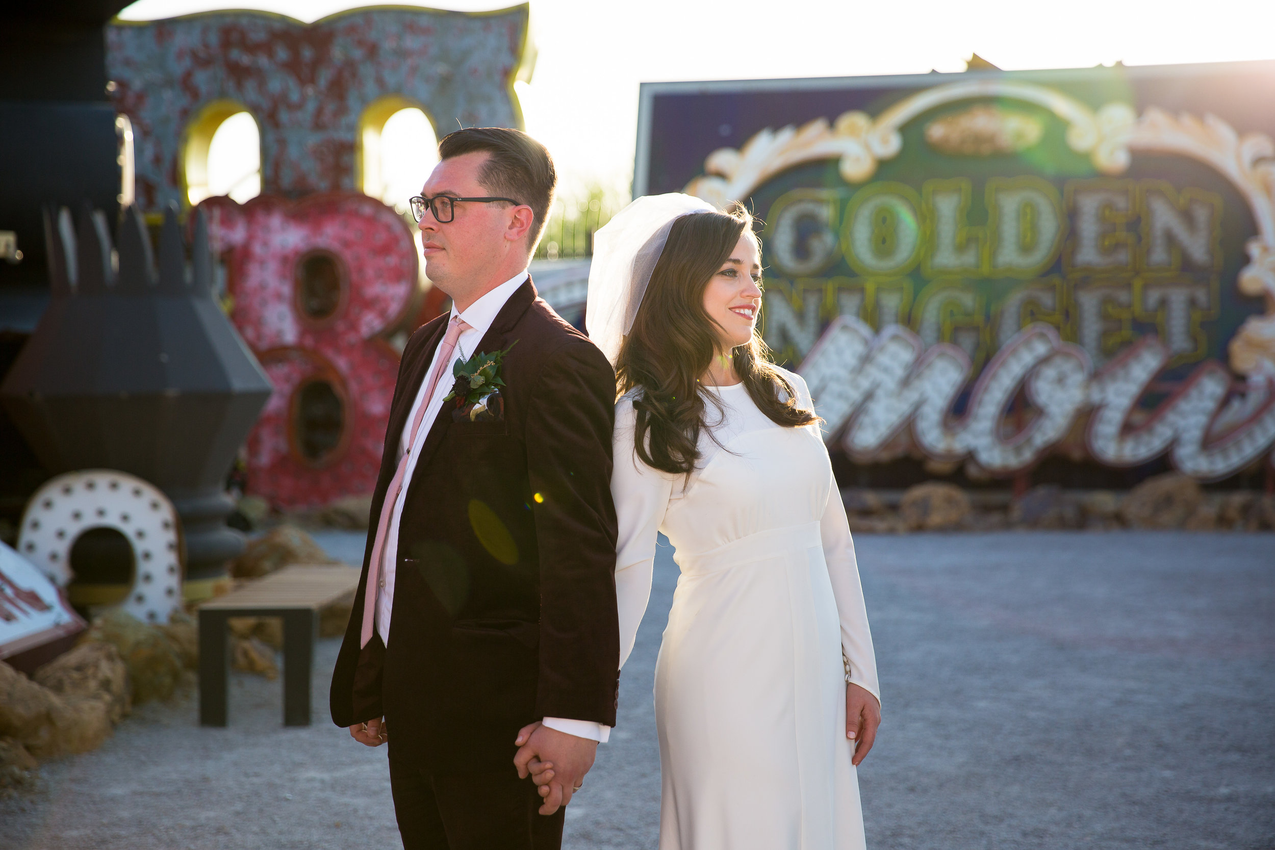Las Vegas Neon Museum Boneyard Wedding Photography