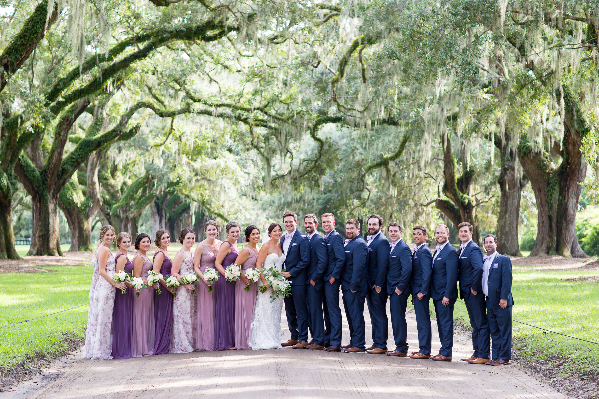Charleston Wedding Party Boon Hall Plantation