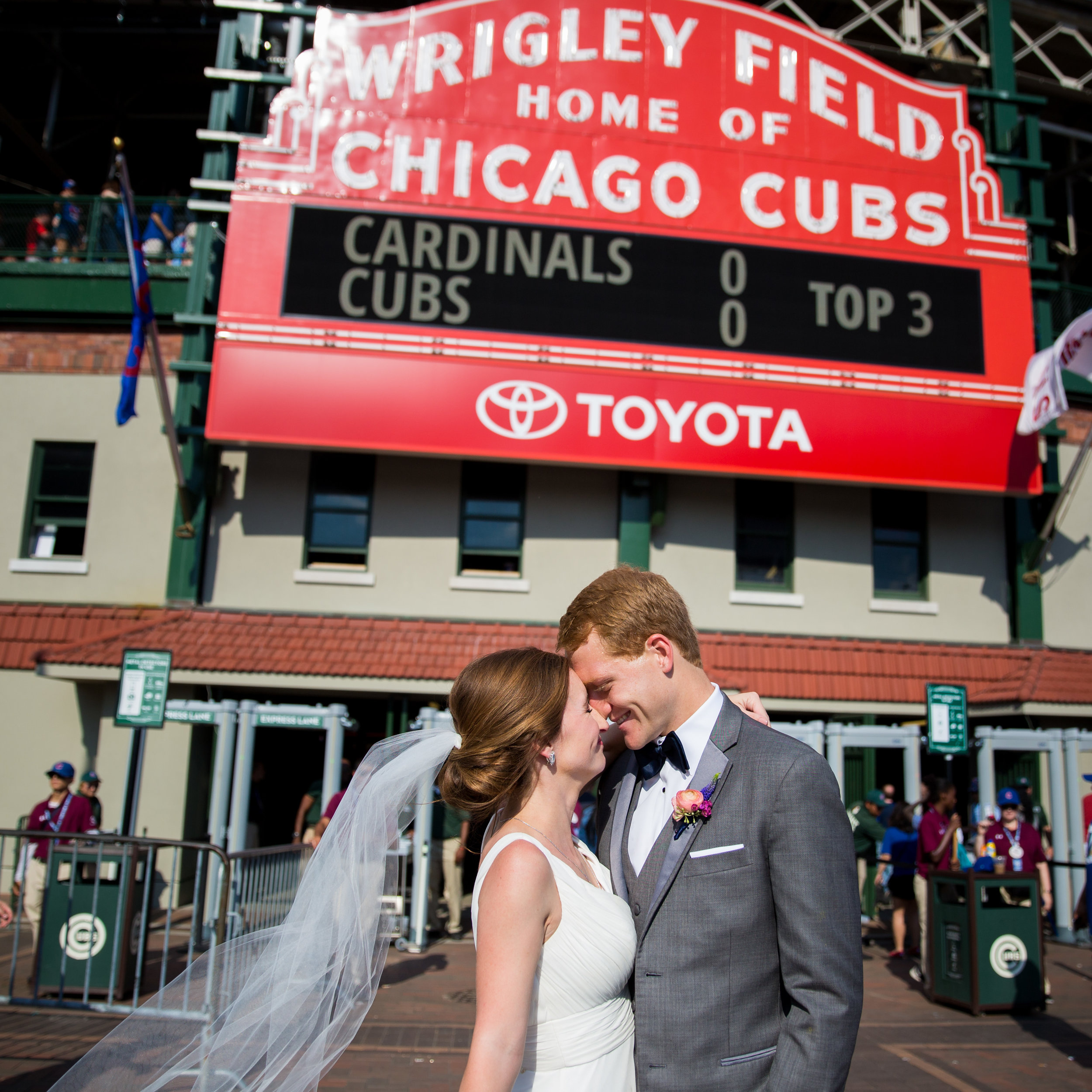 Chicago Wedding Photographer Wrigley Field