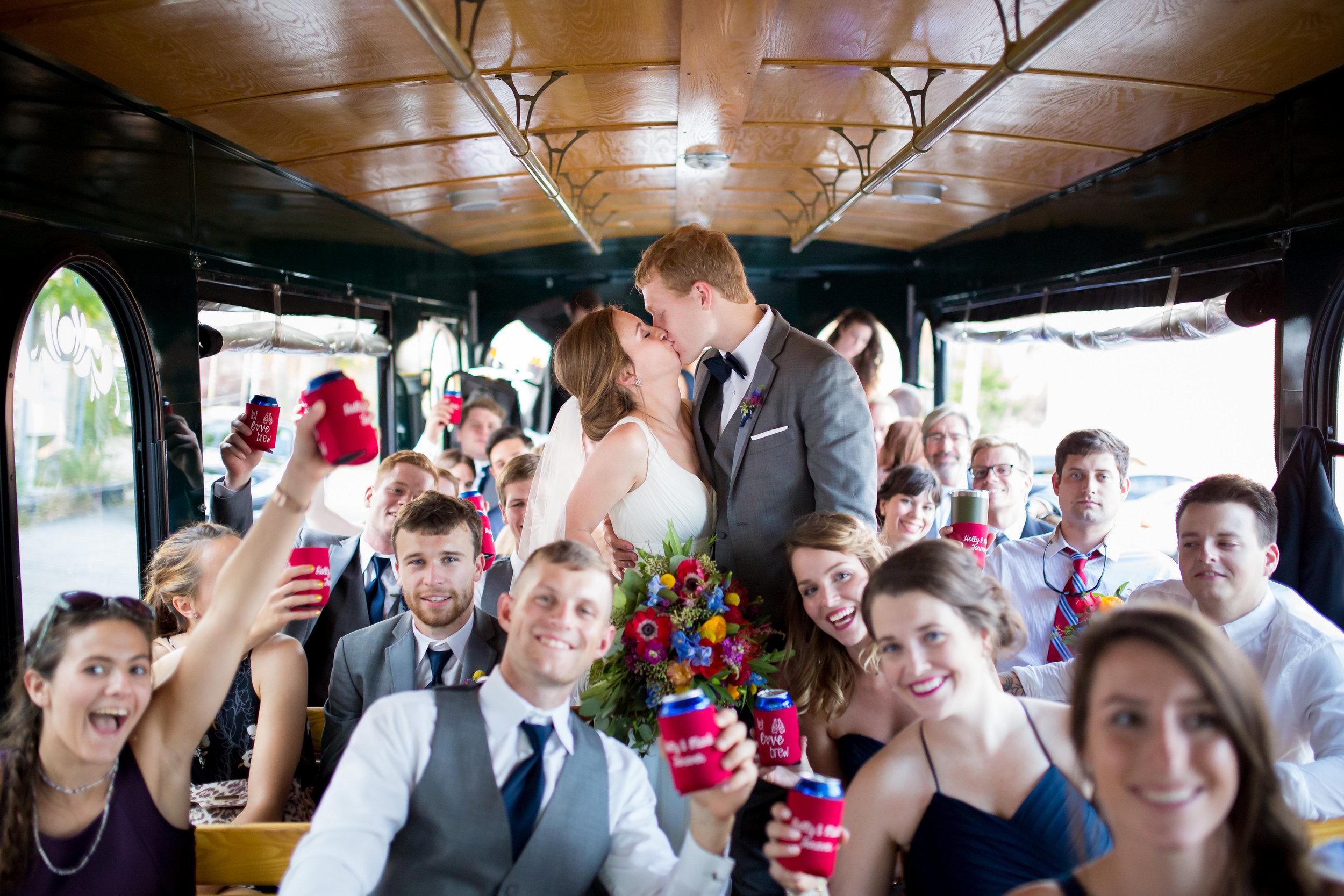 Chicago Trolley Wedding Photographer