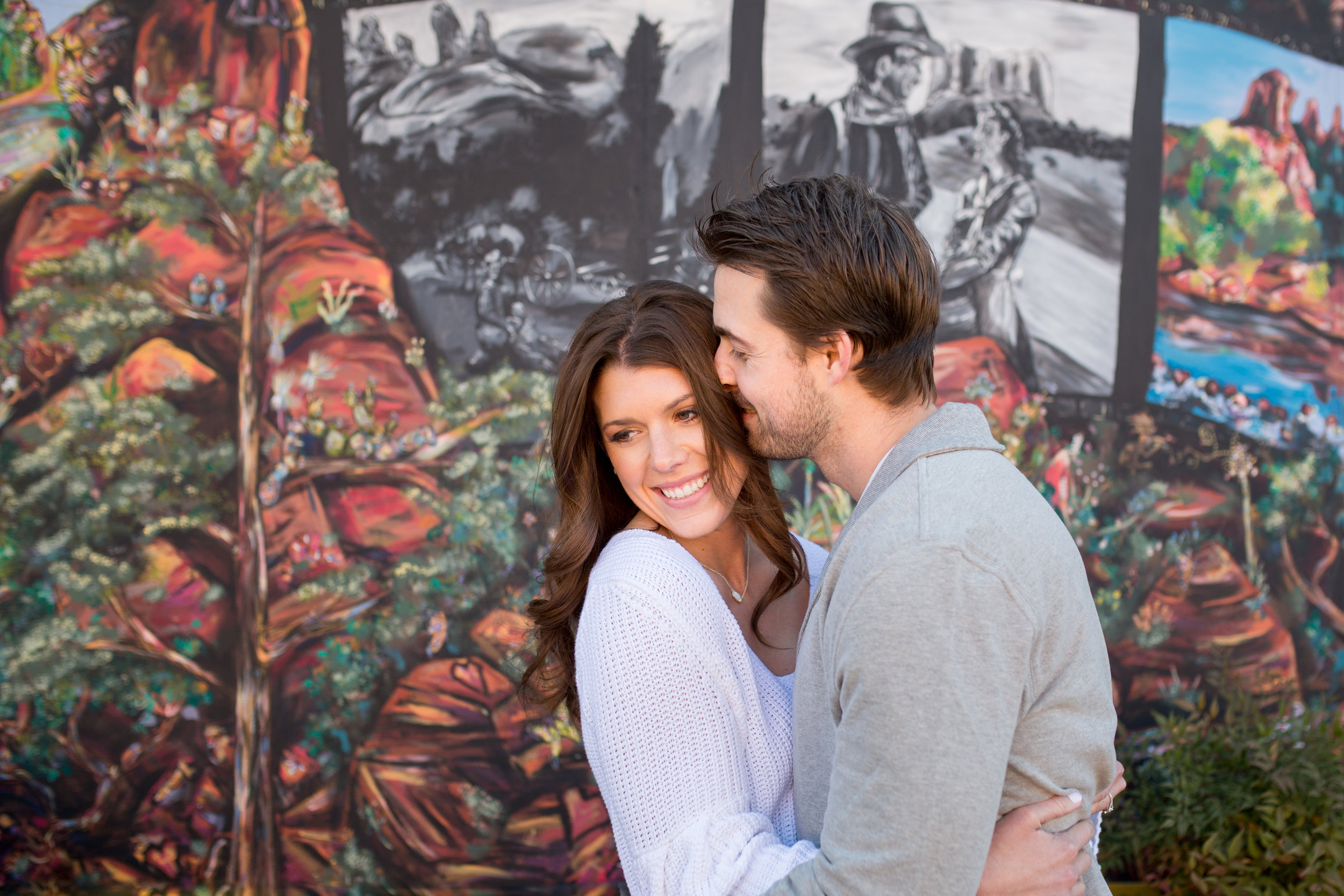 Sedona Engagement Wedding Photographer Downtown Mural Photo