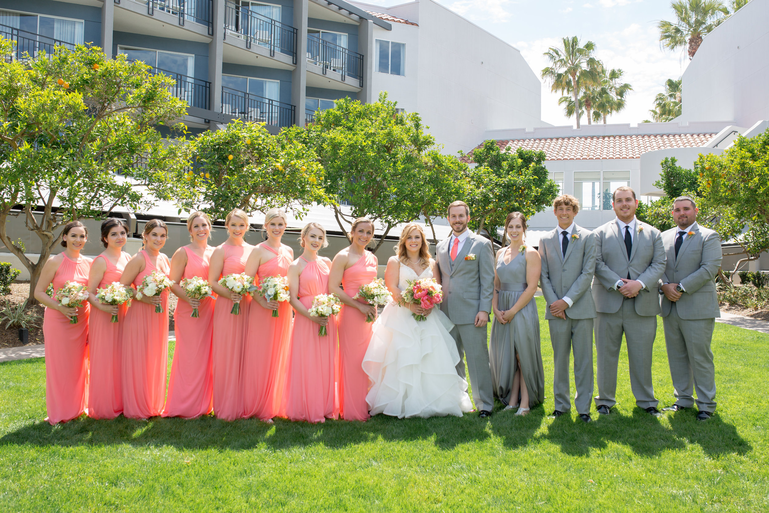 Loews Coronado Coral Wedding Party Photography San Diego