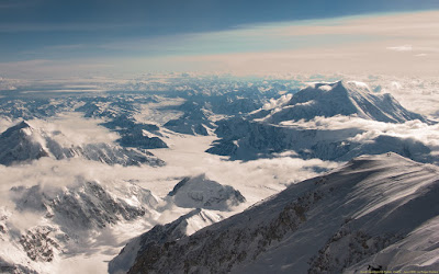 The view from 14,200 feet.  Photo courtesy of Alaska Mountain School