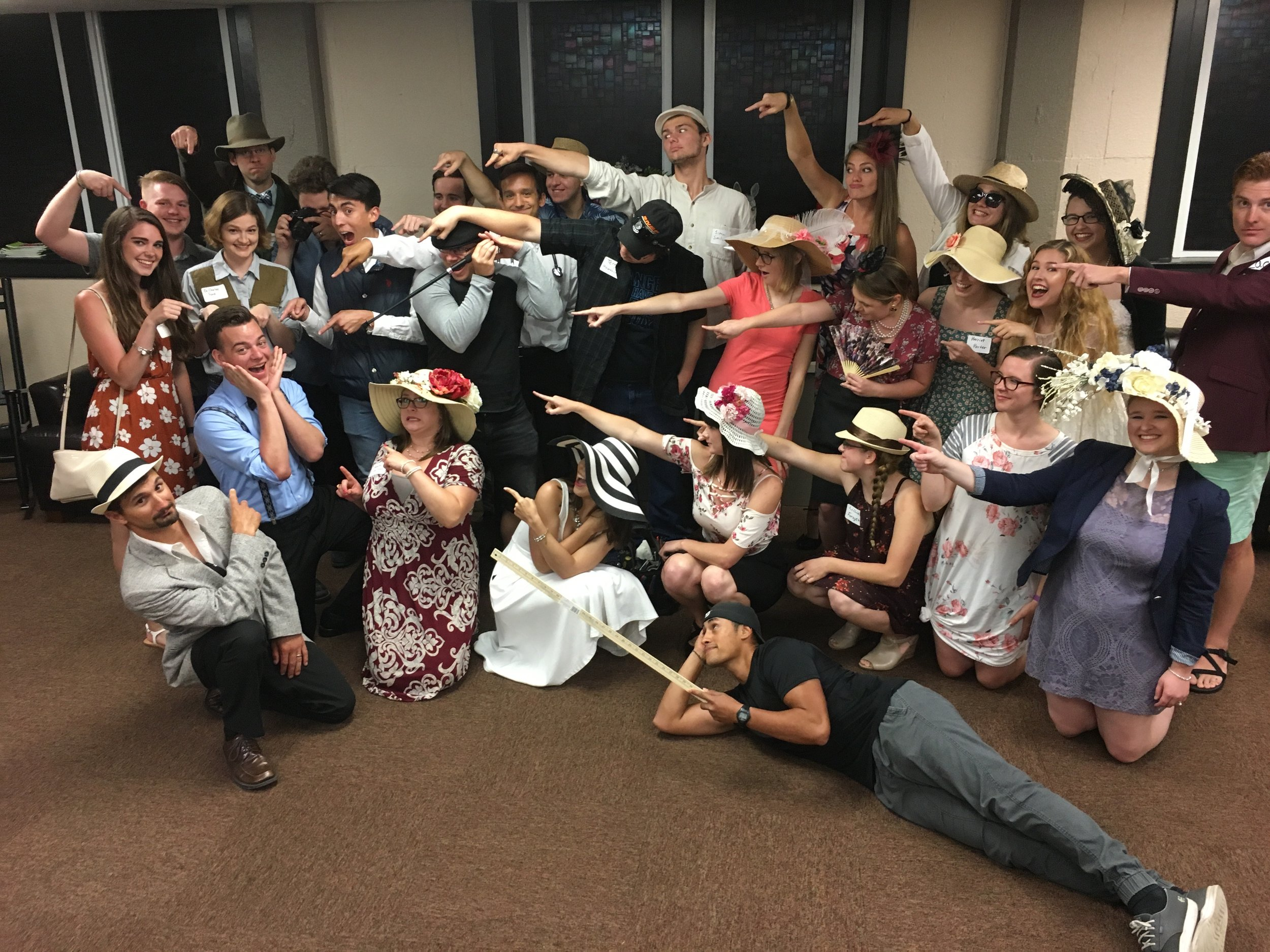 Mystery Party III (7-7-2018) Entire Group Pointing.jpg