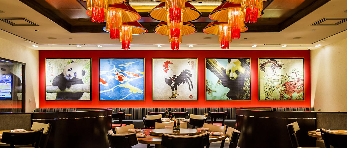 The debut of Ondori Asian Kitchen followed the closure of Koji sushi bar. Its interior showcases panda and rooster art by  Graphic Encounter Fine Art : This is the Year of the Rooster, after all.