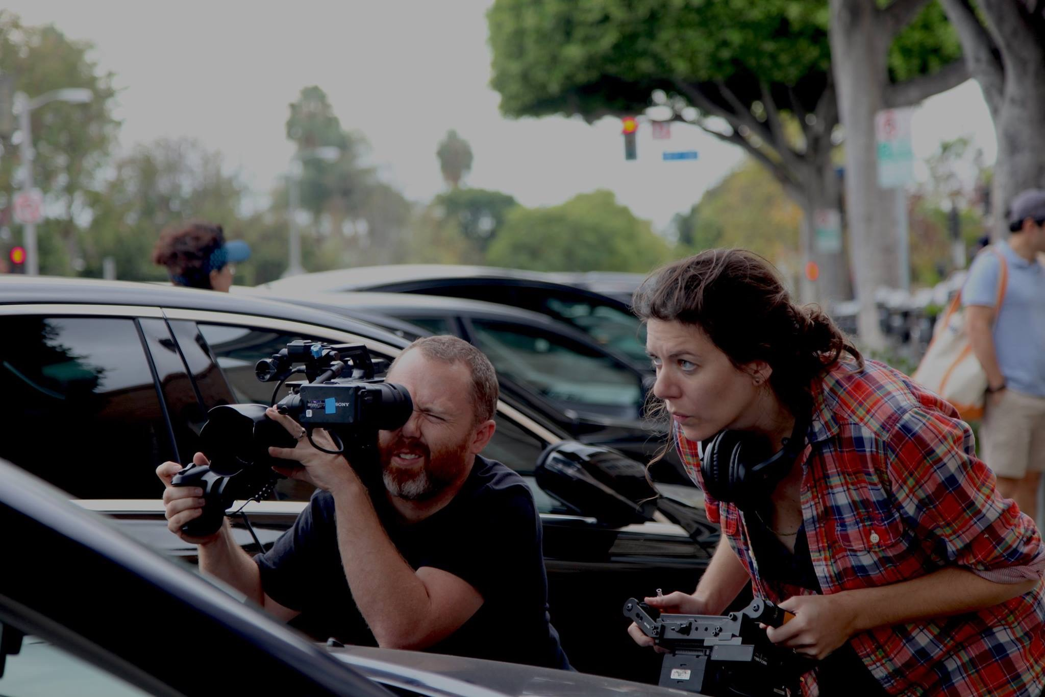 On set in LA for   My Americ a  with DP  Mike Rossetti