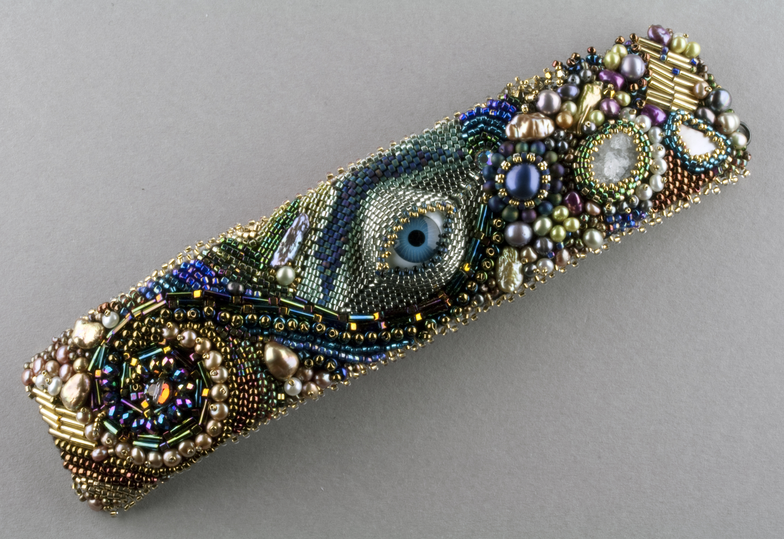 Bead Embroidered bracelet by Kasey Mazzara