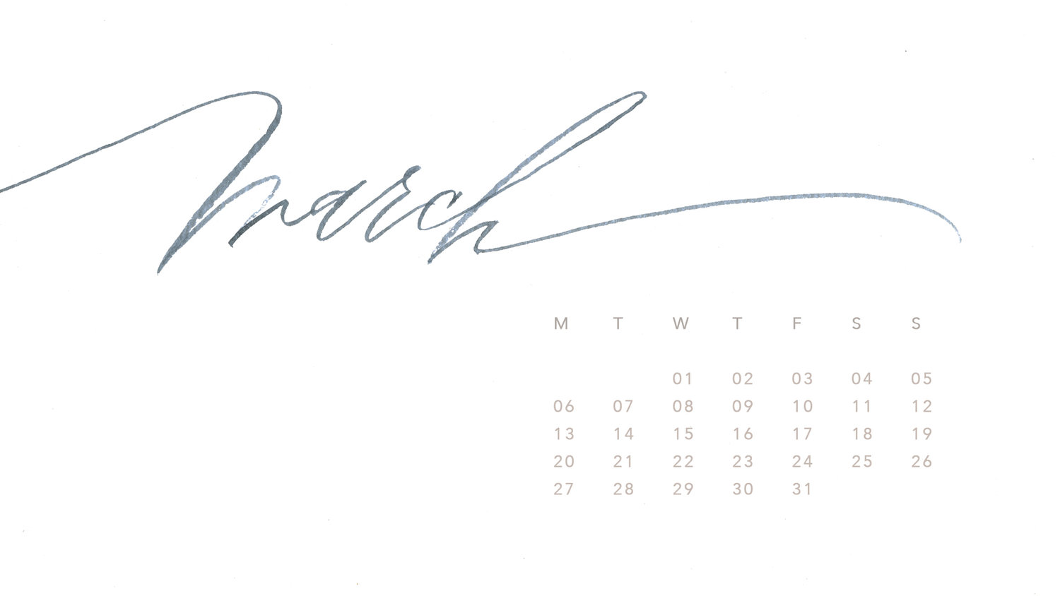 March 2017 Desktop Wallpaper Is Here Maurelle Calligraphy