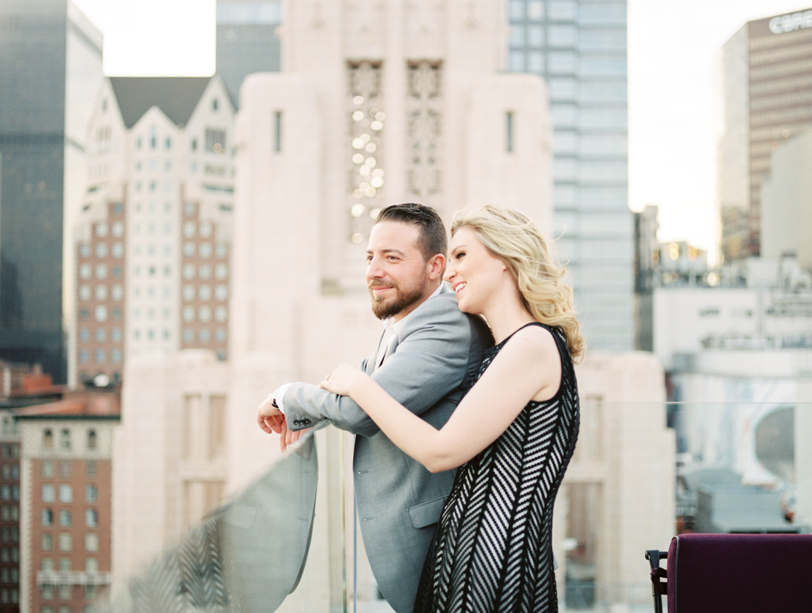 Downtown Los Angeles Engagement Session - Rachel + rodin