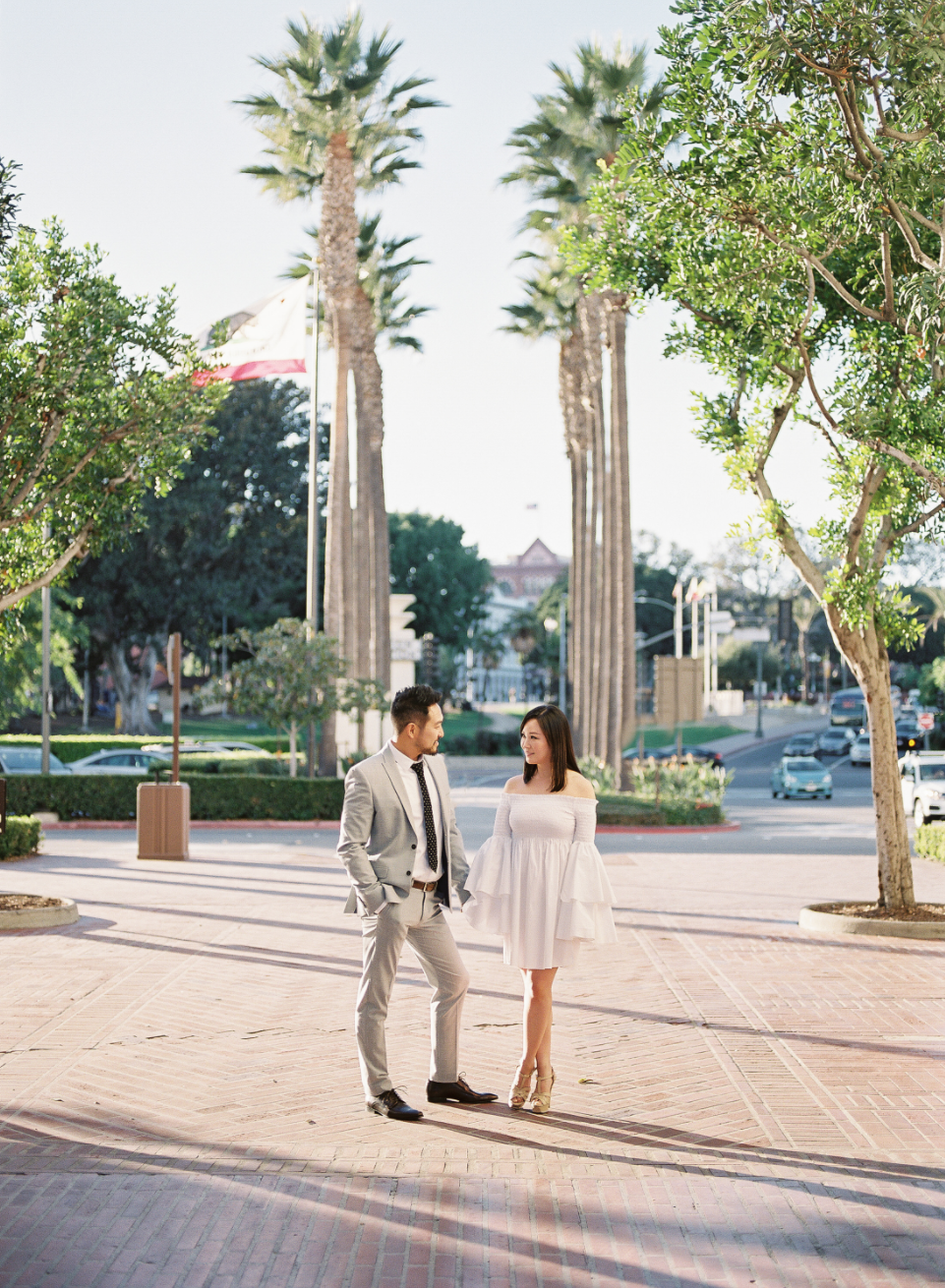 Los Angeles Engagement Session at Union Station - ERIC + LIZ