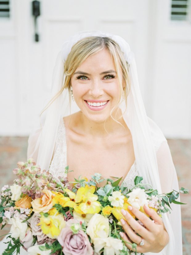colorful garden wedding inspiration, as seen on style me pretty - lombardi house, los angeles