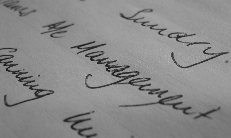 handwriting analysis - fluent and complex writing