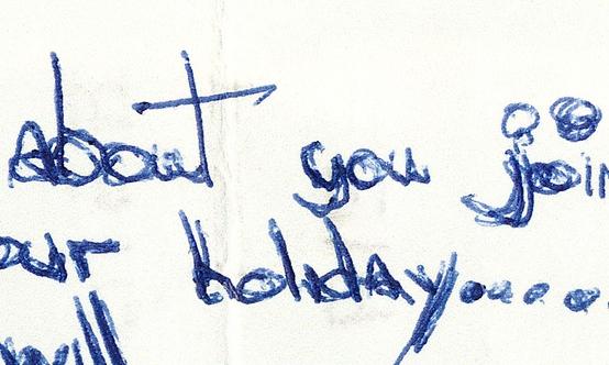 overwritten handwriting - disguise?