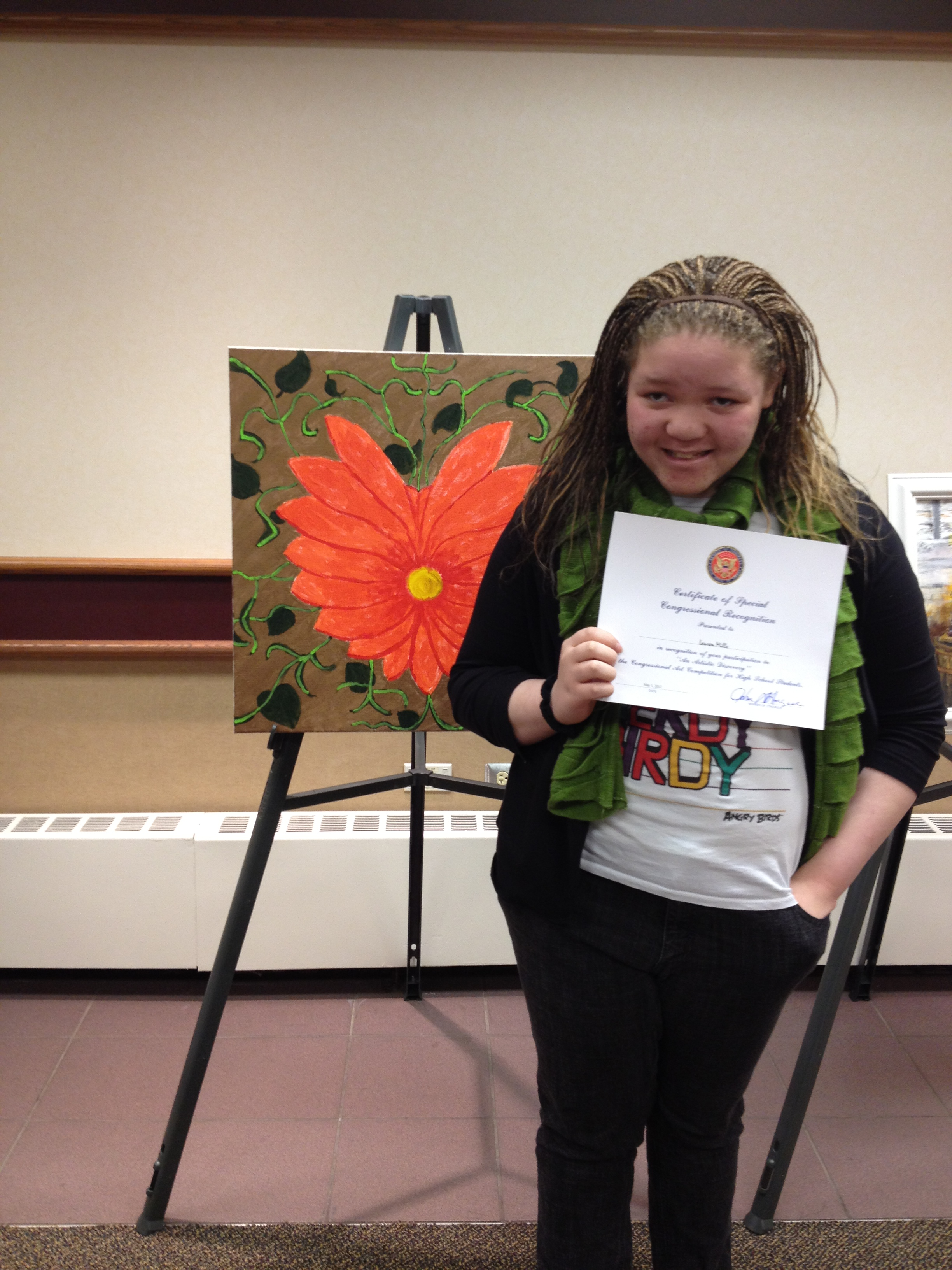 At age 12, Lauren participated in Senator John Dingell's Art Competition for Southeastern Michigan's top high school artists.