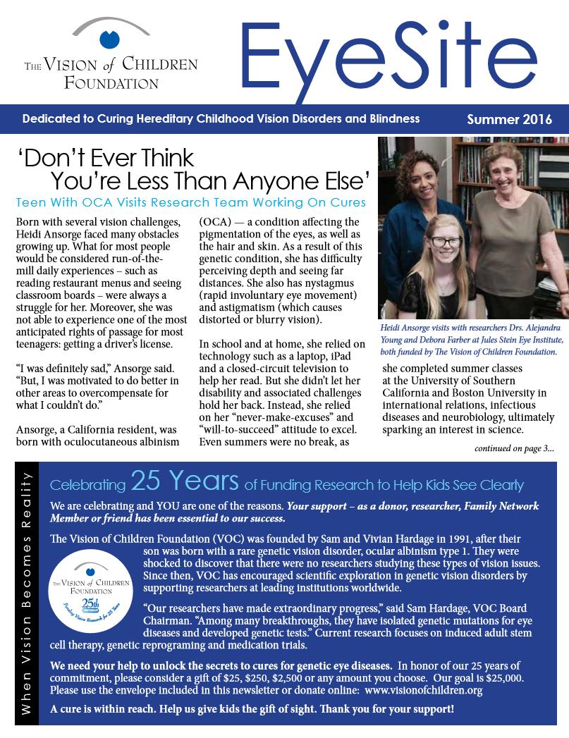 2016 newsletter cover