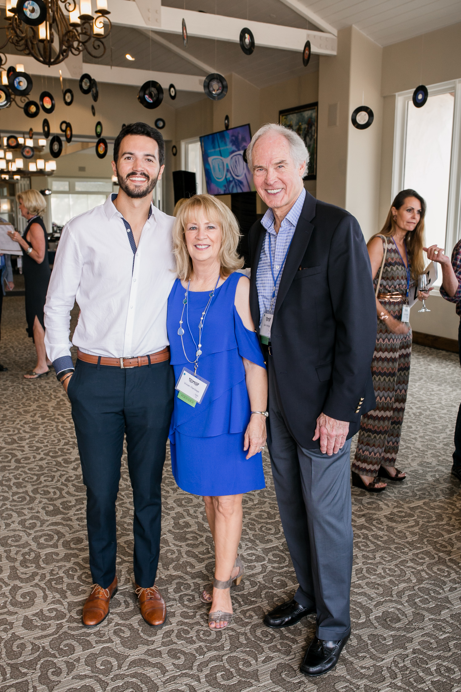 Jeremy Poincenot, VOC Vision Hero, with Vivian and Sam Hardage, Co-Founders, The Vision of Children Foundation.Photo: Cori Nichols, Fairbanks Living