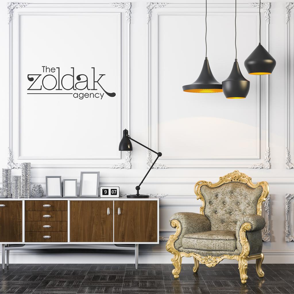 The Zoldak Agency black paint on wall