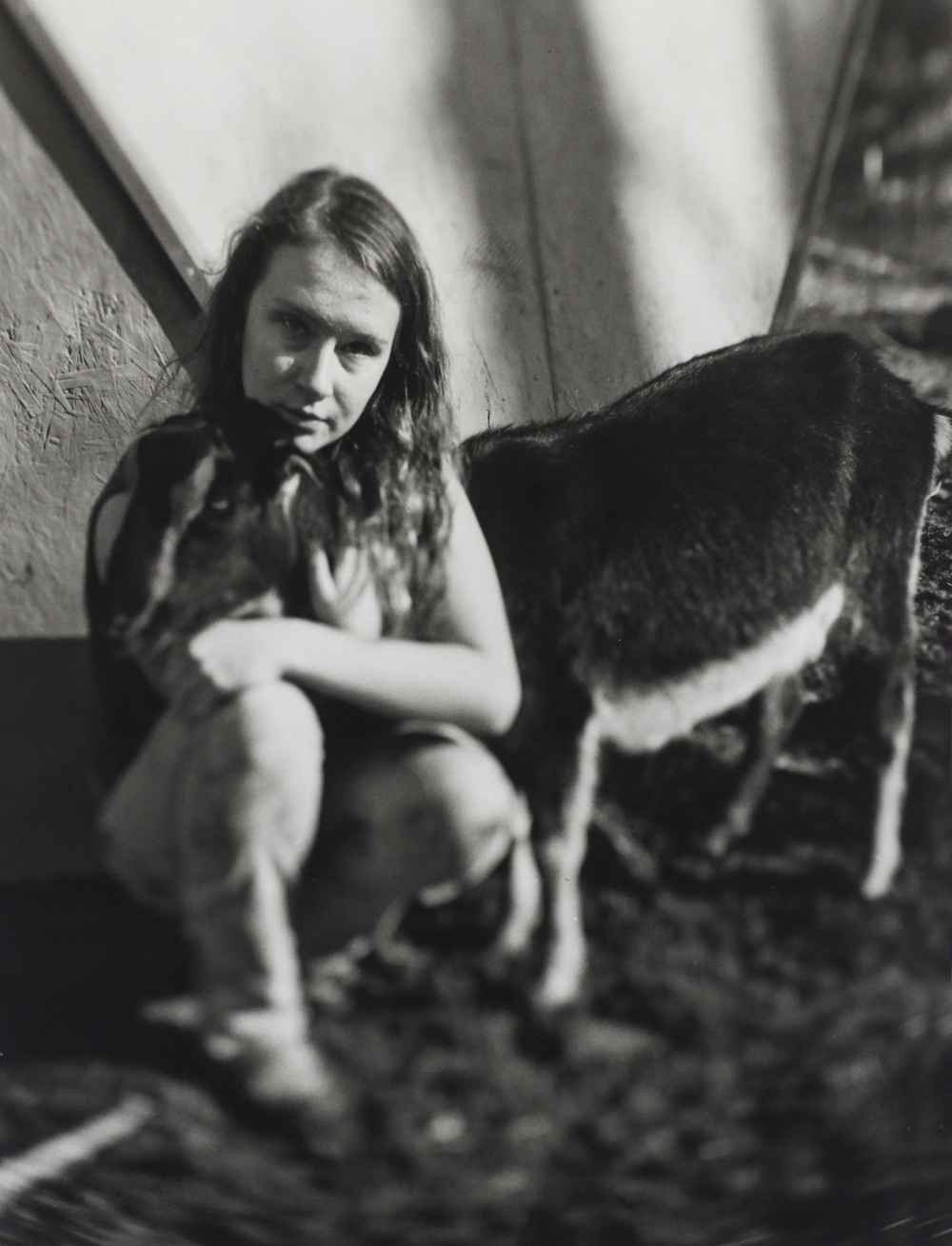 Celia and her goat