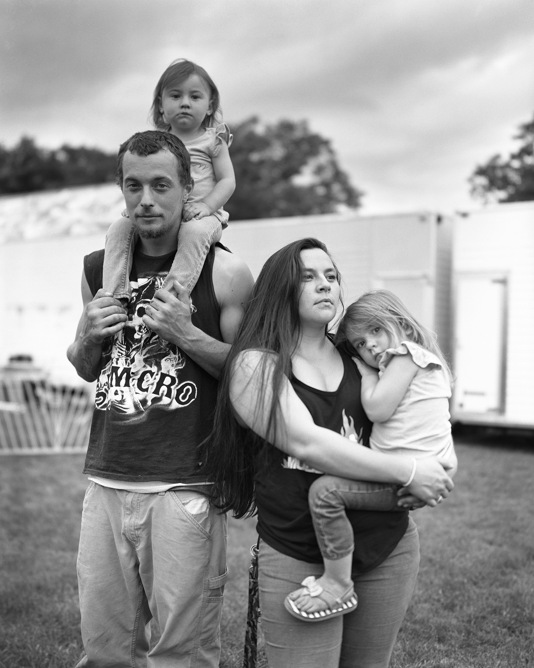 Family at the Central Egg Festival, Maine