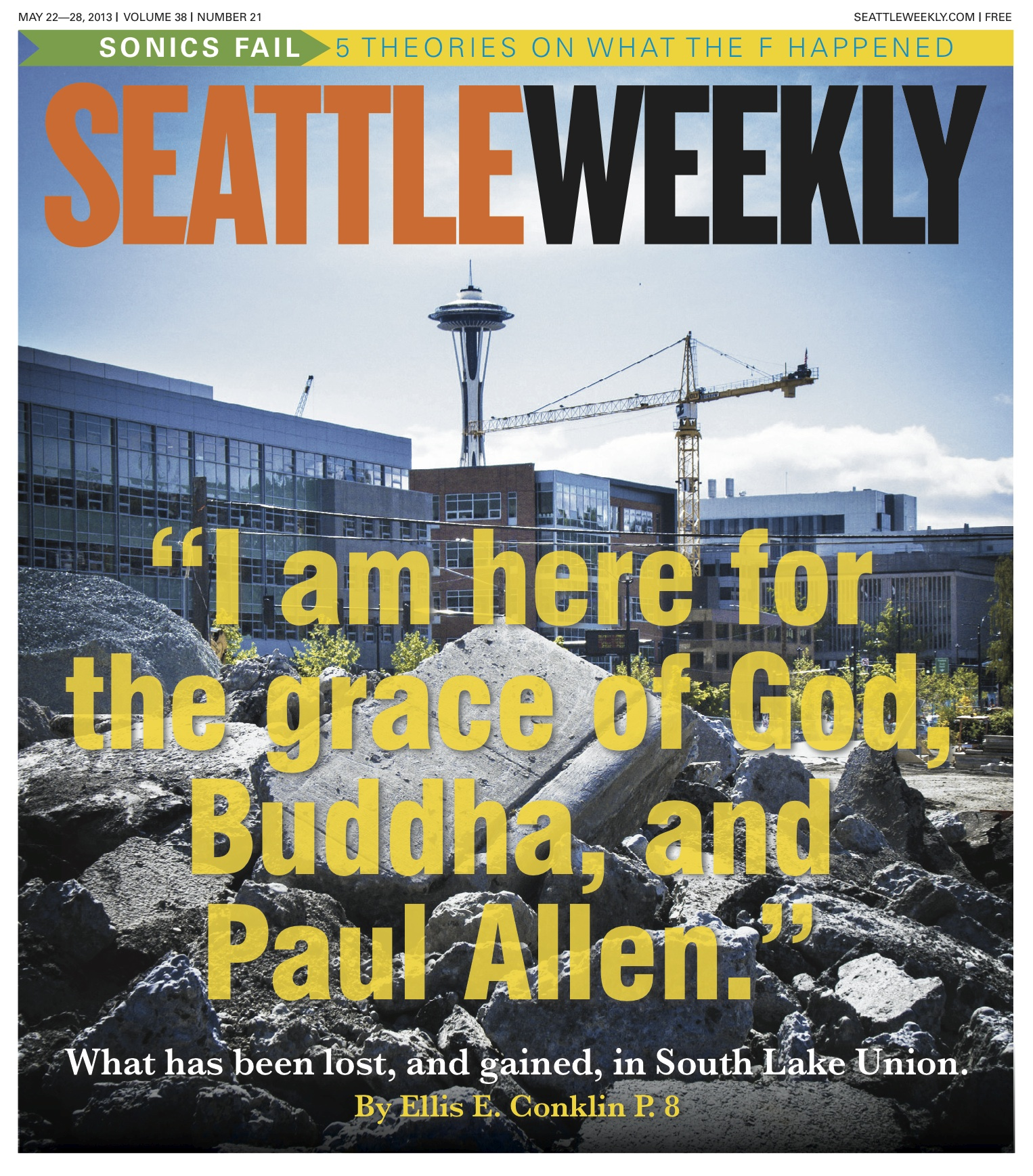 Seattle Weekly May 23-30, 2013 Shot by Peter Koval