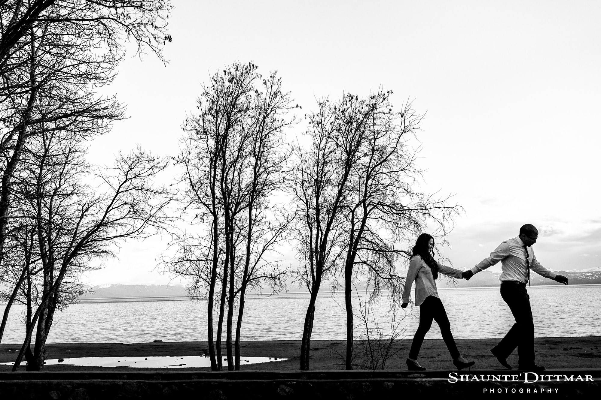 Kings Beach Lake Tahoe Engagement Photos