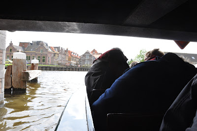 we had to duck down in the boat to make it under some of the low bridges during our canal boat tour