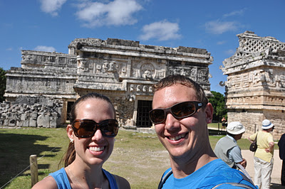 self-portrait at Chichen Itza