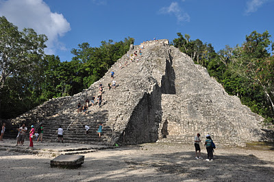 the large pyramid at Coba