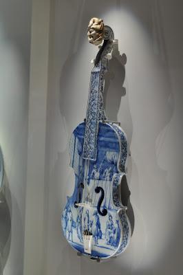 Delftware Violin, an unusual delftware object