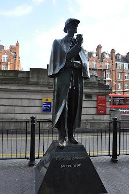 We found Sherlock Holmes on Baker Street