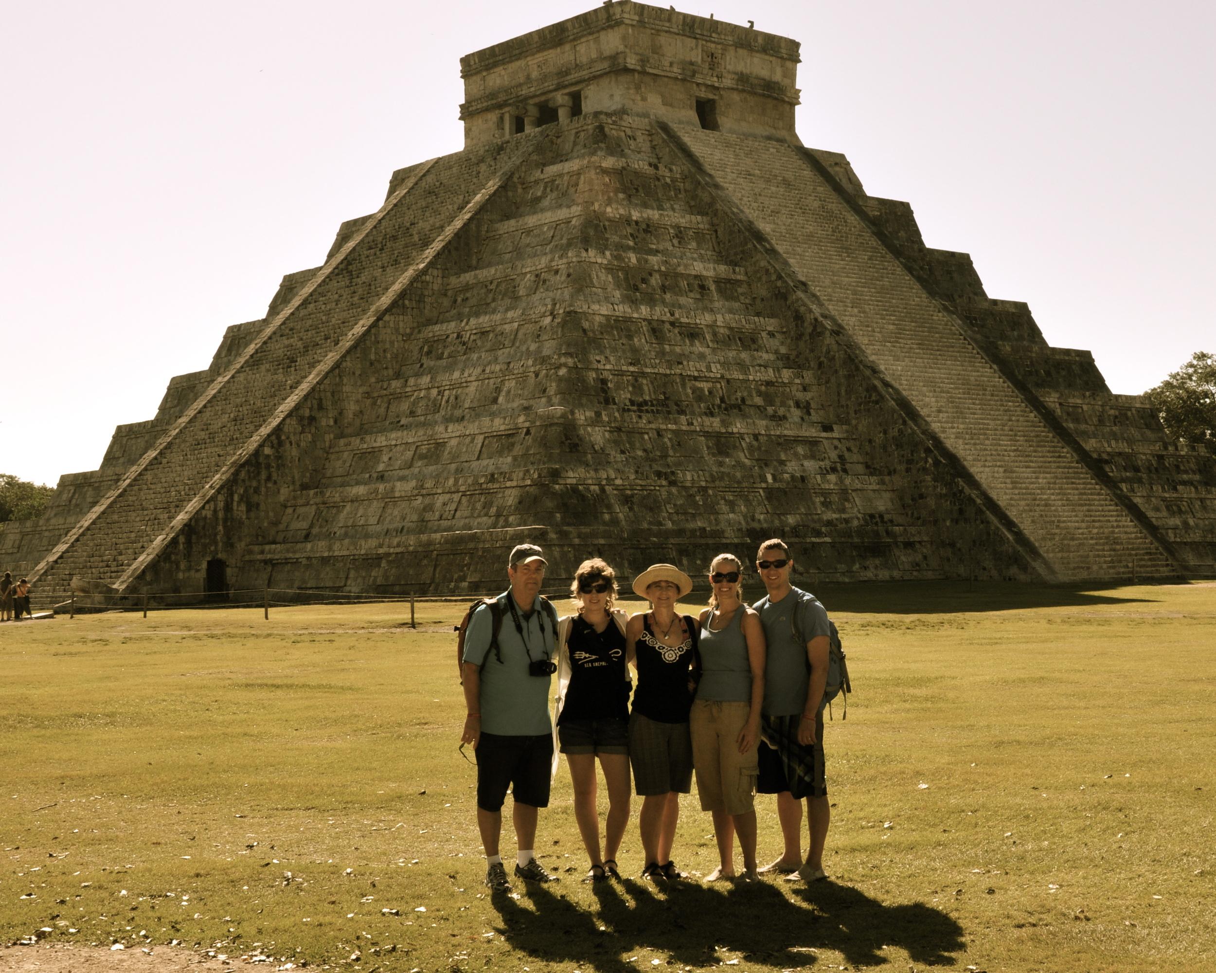 Family pic at Chichen Itza