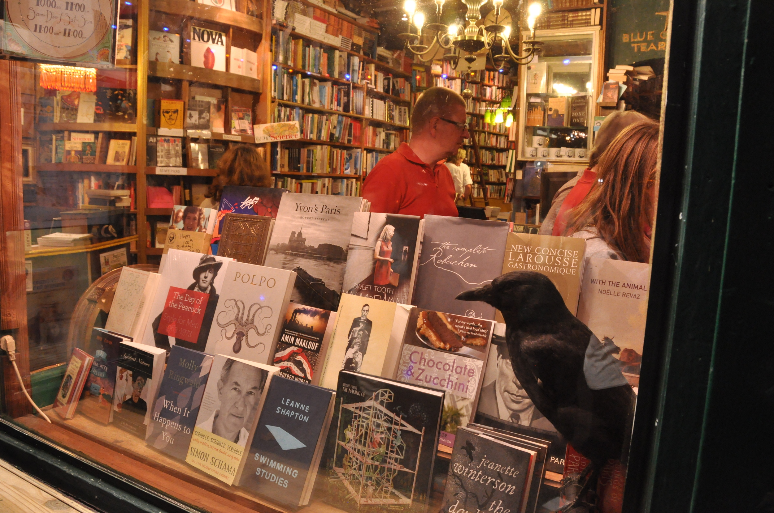 Shakespeare & Company bookstore - I came out loaded down with new & vintage books