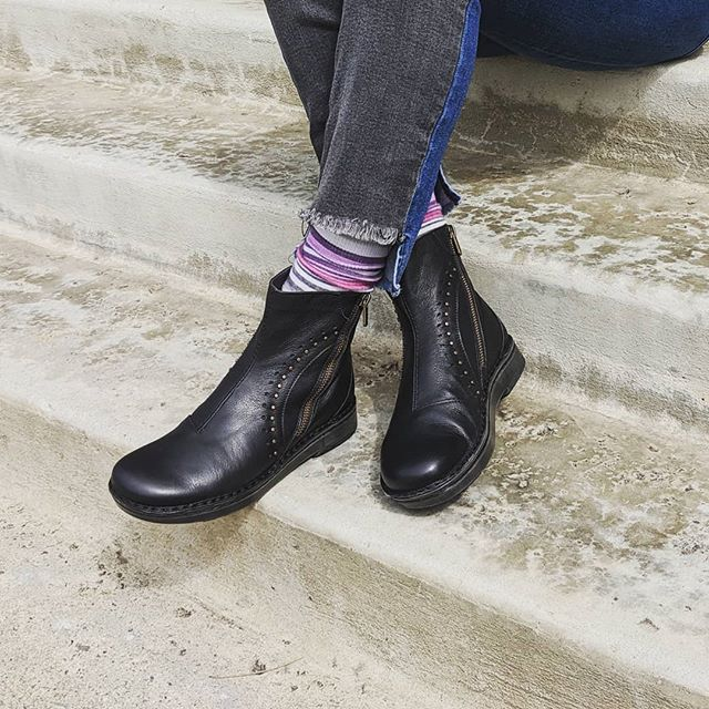 The Cetona bootie from @naotfootwear is the employee pick of the season! With double zippers and a cork-latex insole you can't go wrong! #bootieseason #blackbooties #comfortfootwear #cuteandcomfy #archsupport #fallfashion