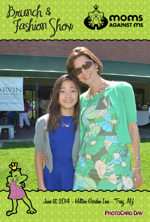 Mom and daughter at the Moms Against MS Fashion Show - Troy NY.