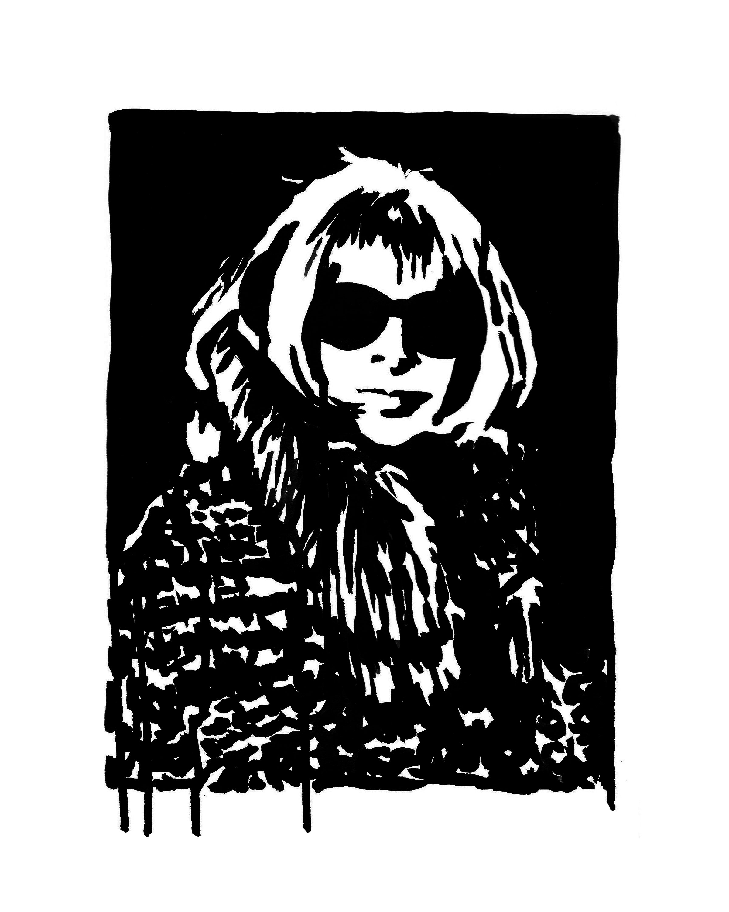 "Anna Wintour in Fur  9"" x 12"" ink on paper   SOLD"