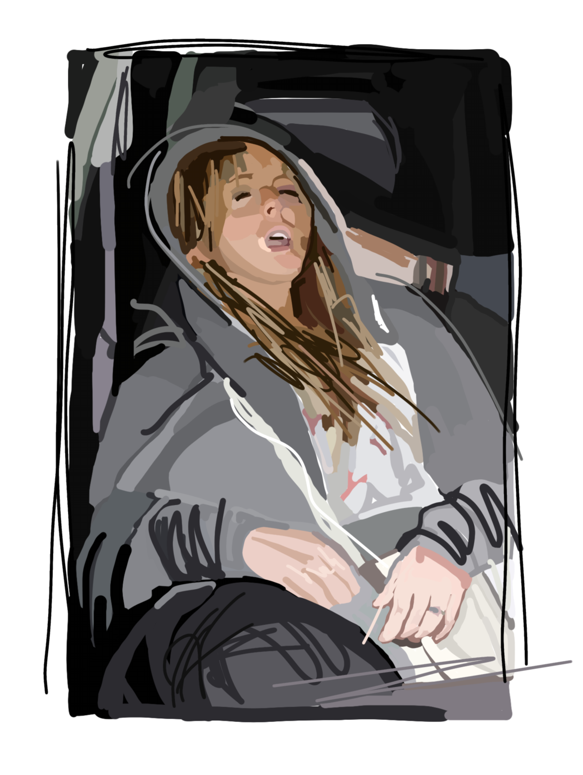 Laura Collins Lindsay Lohan Passed Out in the Passenger Seat.png