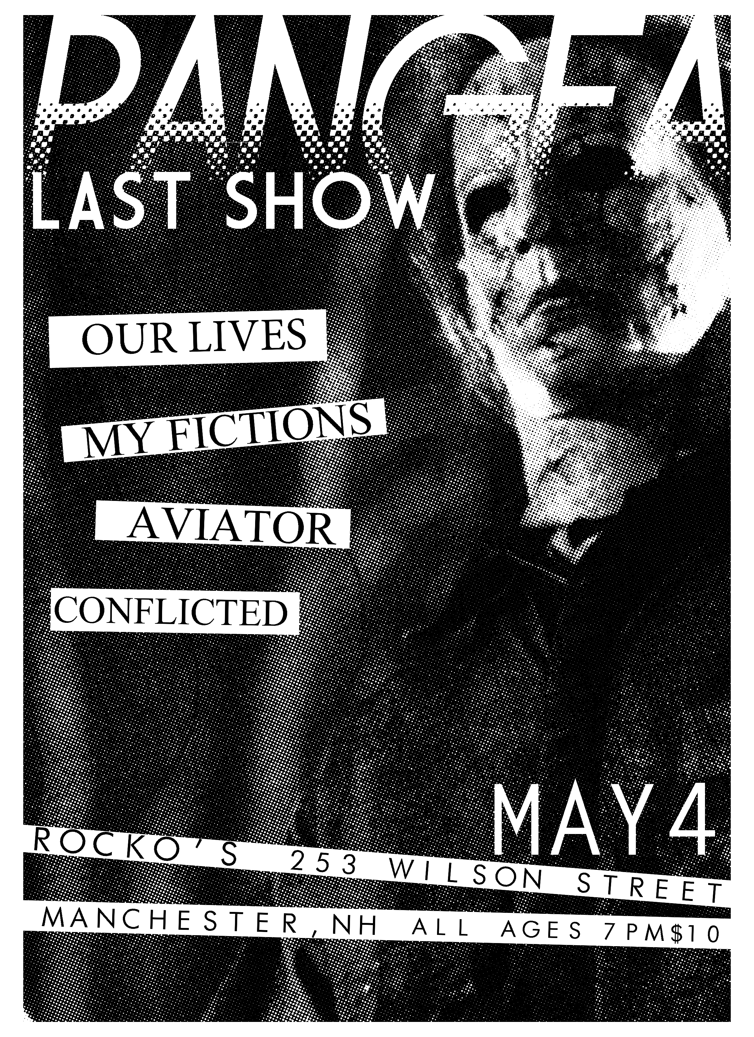 Hardcore bands, NH rock show flyer