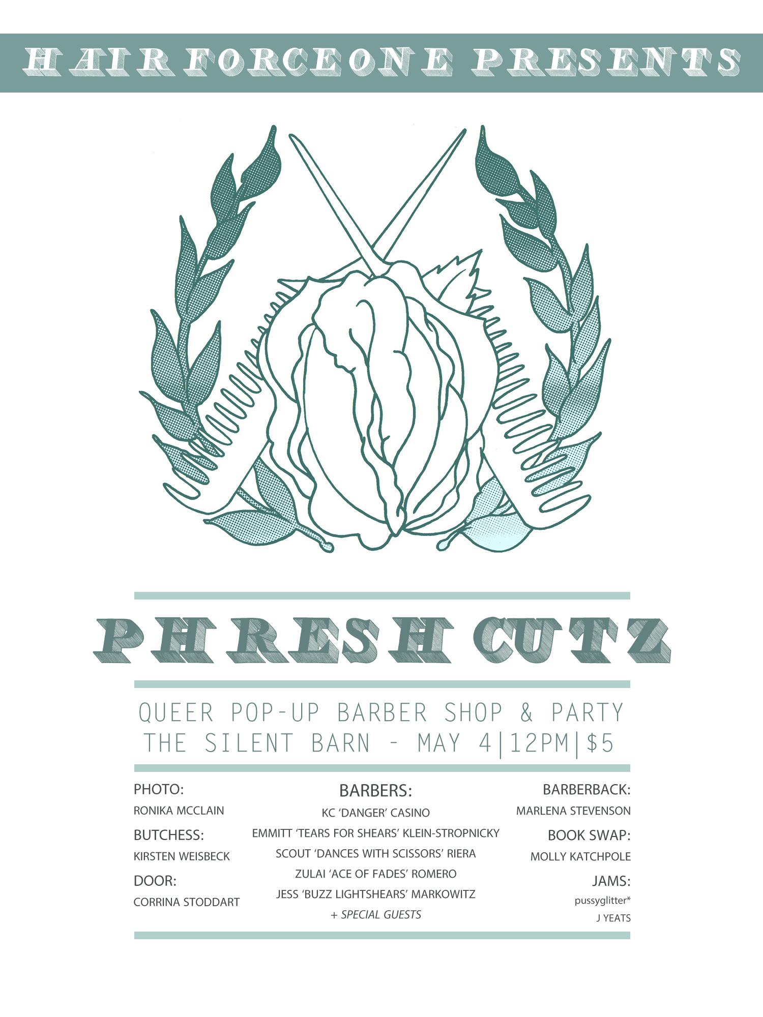 NY based pop-up shop organization, flyer