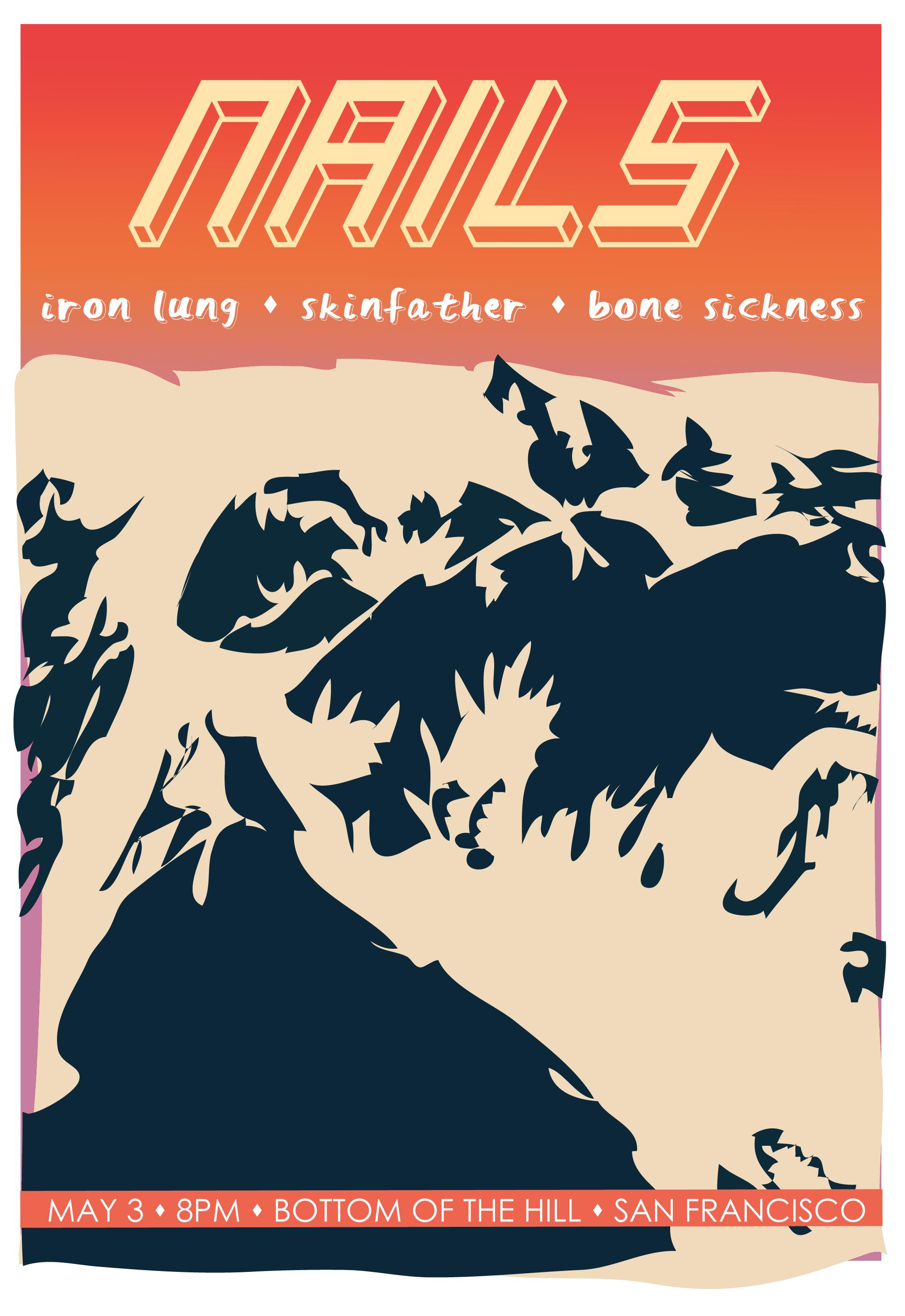 Hardcore bands, Local flyer. Adobe Illustrator