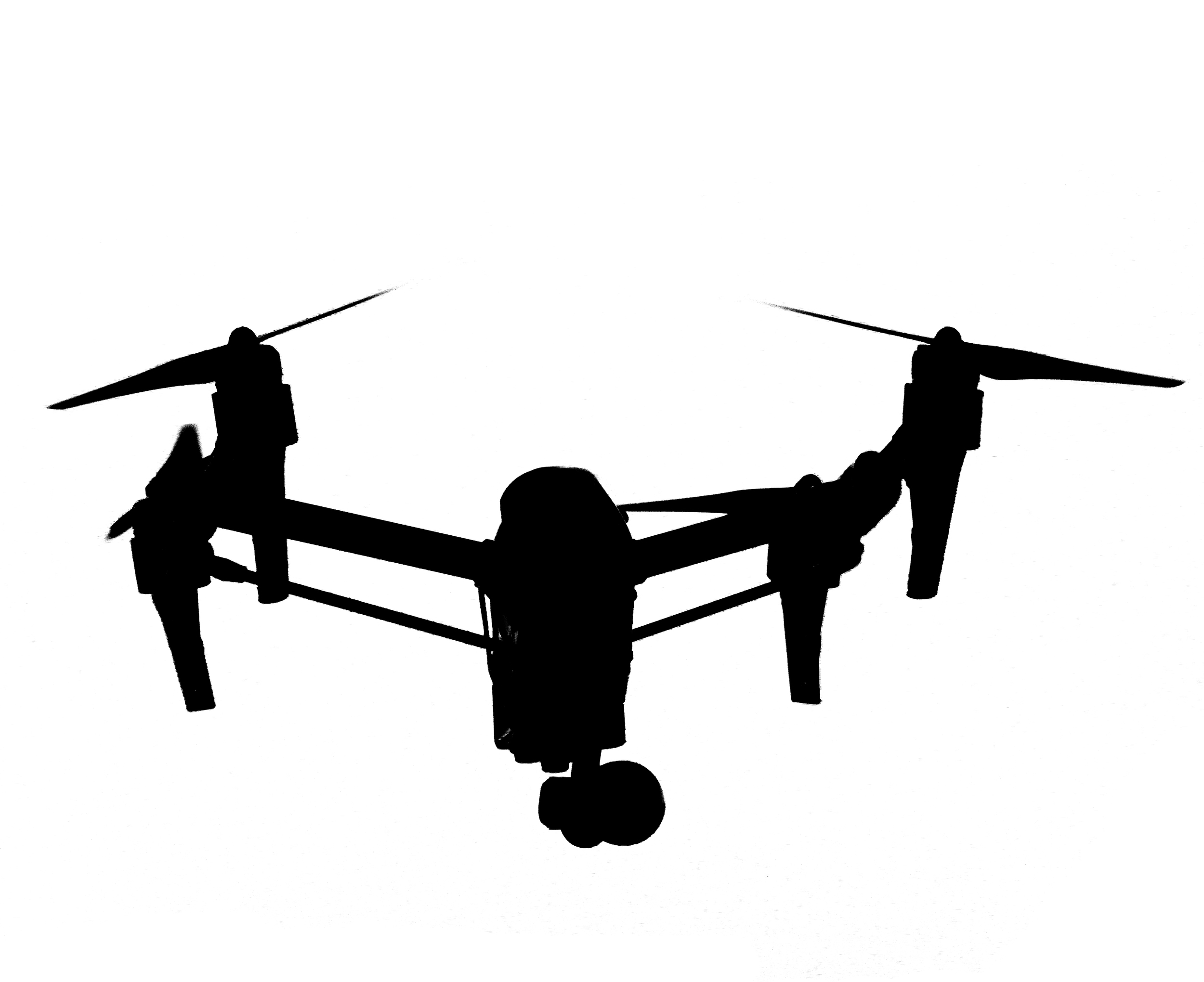 DJI Inspire vector (flying)