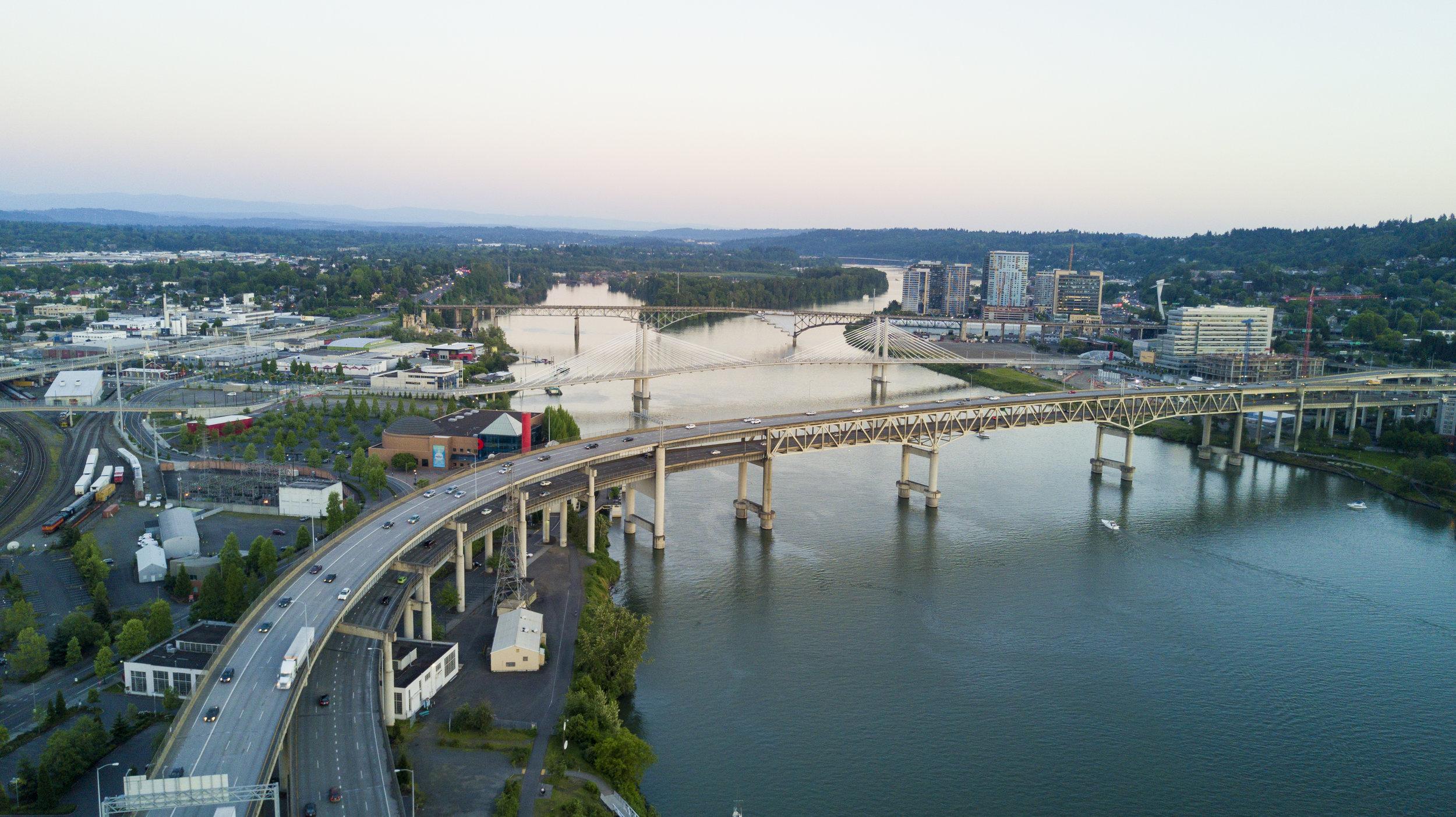 portland sunset marquam bridge