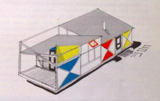 Serge Chermayeff, sketch for studio prototype  House & Home , July 1954