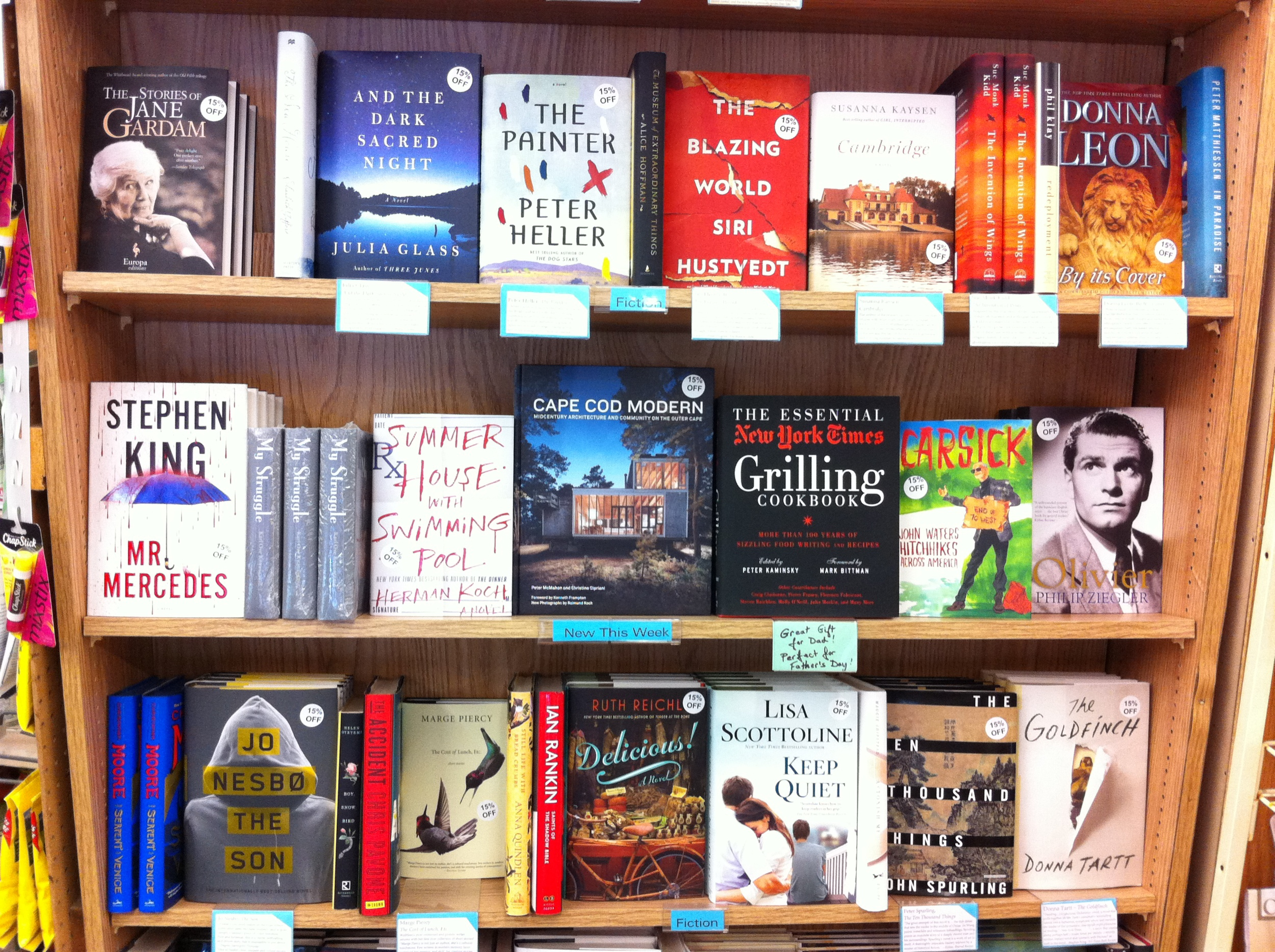 Sharing pride of place with the NYT Grilling Cookbook  atthe Wellfleet Marketplace, June 2014 Photo: Diana Murphy