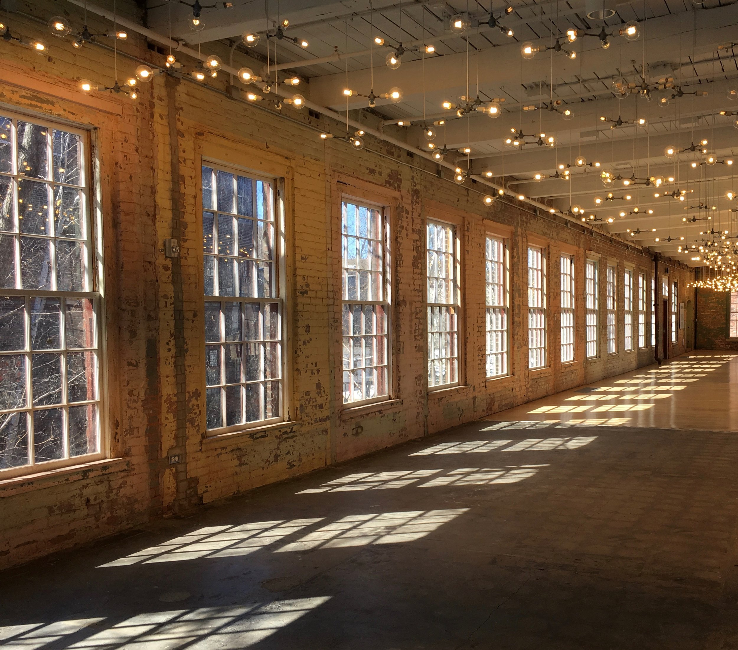 Spencer Finch,  Cosmic Latte  (lighting installation), Mass MoCA, North Adams, Mass. Photo: Christine Cipriani