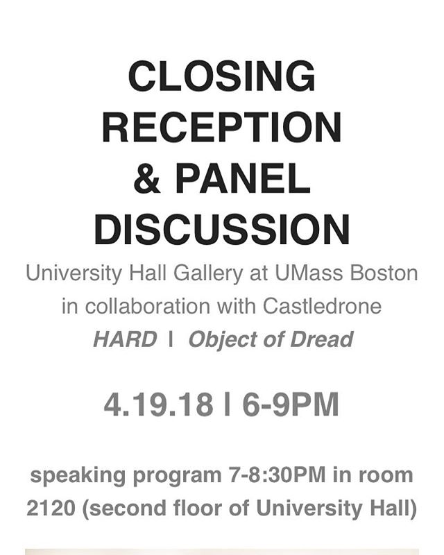 Tonight! Come see me wag my 👅👅👅. @uhgallery  #artisttalk #paneldiscussion #agency #visibility #bostonartist #Hard #subversiverepresentation #objectofdread #desire @castledrone #castledrone