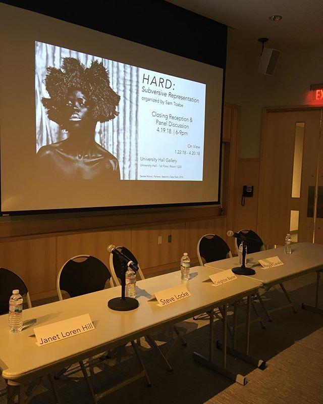 See you in a moment.... @uhgallery  #artisttalk #paneldiscussion #bostonartist #talkingaboutart #visibilty #personalispolitical #gender #representation